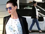 West Hollywood, CA - Anne Hathaway keeps herself busy and hits the gym after doing a little furniture shopping with husband Adam Shulman.  The expecting couple later went to BOA Steakhouse to feed Anne's pregnancy cravings.  Anne covered up her baby bump with a printed Origami Cranes blouse.\nAKM-GSI         January 22, 2016\nTo License These Photos, Please Contact :\nSteve Ginsburg\n(310) 505-8447\n(323) 423-9397\nsteve@akmgsi.com\nsales@akmgsi.com\nor\nMaria Buda\n(917) 242-1505\nmbuda@akmgsi.com\nginsburgspalyinc@gmail.com