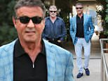 Beverly Hills, CA - 69-year-old actor Sylvester Stallone, who nabbed the Best Supporting Actor honor for his reprised role as Rocky Balboa in Creed at the Critics' Choice Awards, seen exiting Cafe Roma after enjoying lunch with a friend.\nAKM-GSI          January 21, 2016\nTo License These Photos, Please Contact :\nSteve Ginsburg\n(310) 505-8447\n(323) 423-9397\nsteve@akmgsi.com\nsales@akmgsi.com\nor\nMaria Buda\n(917) 242-1505\nmbuda@akmgsi.com\nginsburgspalyinc@gmail.com