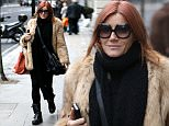 Picture Shows: Michelle Collins  January 23, 2016\n \n 'EastEnders' actress Michelle Collins is seen leaving a hair salon in London, England.\n \n The soap star, who was sporting dyed red hair, wore a black jumper, a faux fur coat, black trousers and black boots as she strolled the city streets.\n \n Non Exclusive\n WORLDWIDE RIGHTS\n \n Pictures by : FameFlynet UK © 2016\n Tel : +44 (0)20 3551 5049\n Email : info@fameflynet.uk.com