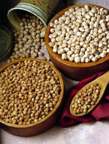 two varieties of chickpeas: