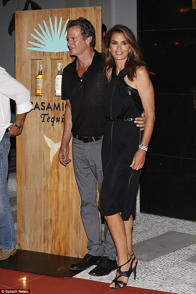 A super model! Cindy Crawford looked as flawless as ever as she joined husband Rande Gerber at the party