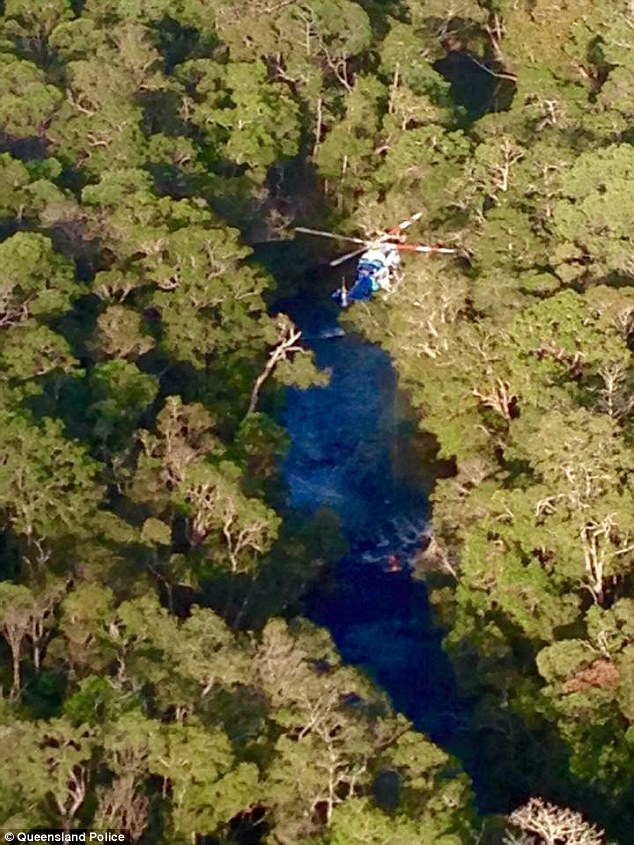 A Queensland Search and Rescue helicopter finally locates Mr Keys, who was stranded in the Jardine River National Park
