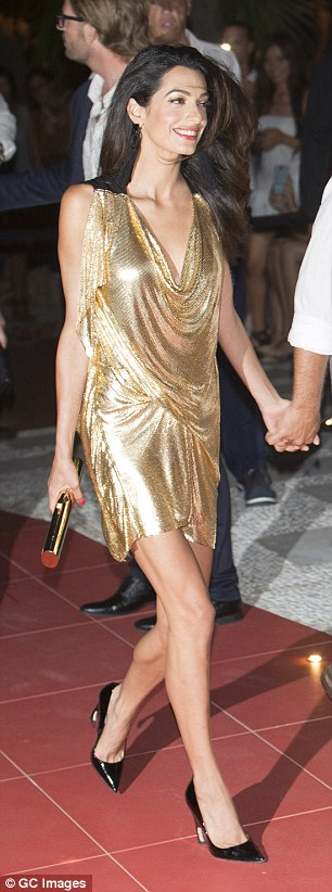 Making Amal of it: The brassy barrister was clearly relishing every moment in the spotlight