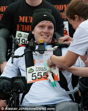 He completed the challenge to raise money for SpecialEffect, a charity which has provided technology to help him adjust to life after the accident