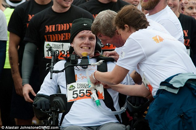 Rob Camm has become the world's first tetraplegic to take part in the gruelling Tough Mudder course