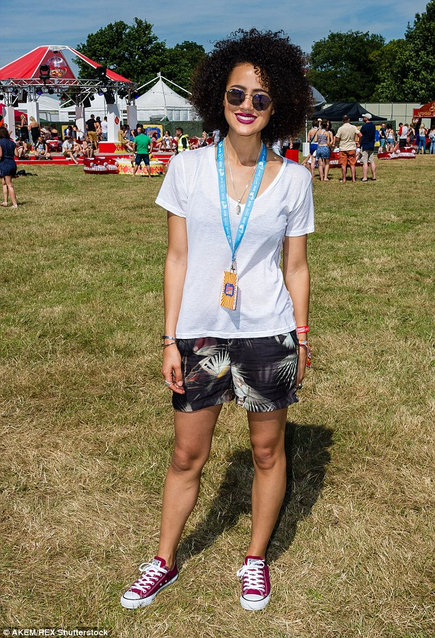 Hollywood star: Game Of Thrones actressNathalie Emmanuel returned to her roots with a visit to the London festival