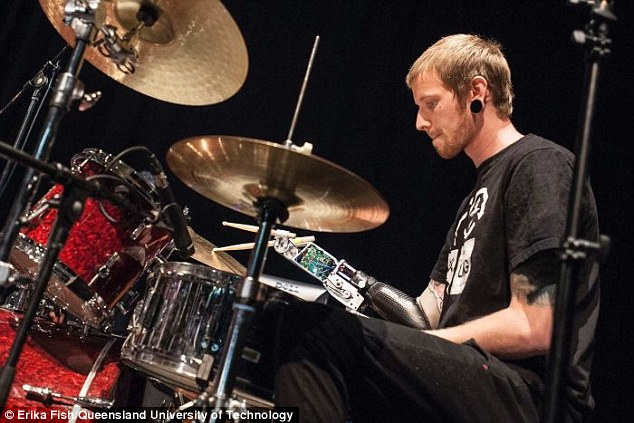Musician Jason Barnes, 25, from America, has been named the fastest drummer in the world despite losing his arm in a workplace accident three years ago