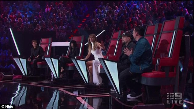 'Hey, hey, hey excuse me': Delta Goodrem wasn't taking it lightly when Joel insinuated that her last remaining contestant, Lyndall Wennekes, didn't have what it takes to get to the grand final