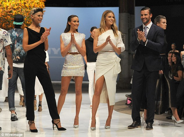 Model duties: They appeared alongside Jennifer Hawkins and Kate Peck for the Myer department store's Spring Summer collection launch