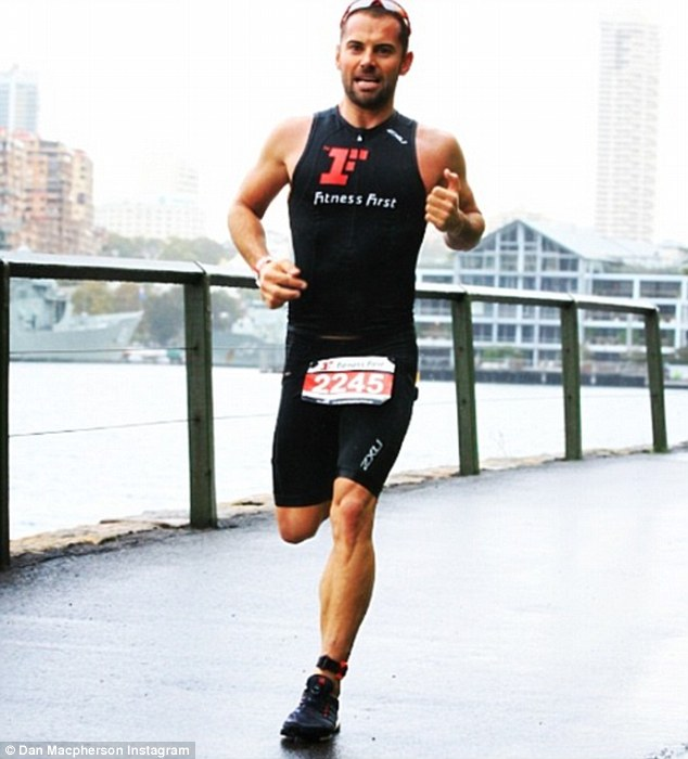 What a gun:  Men's Health pin-up and serial triathlete Dan has put his body to the test for challenges in the past such as the London Marathon, Ironman World Championships, or Sydney's City2Surf