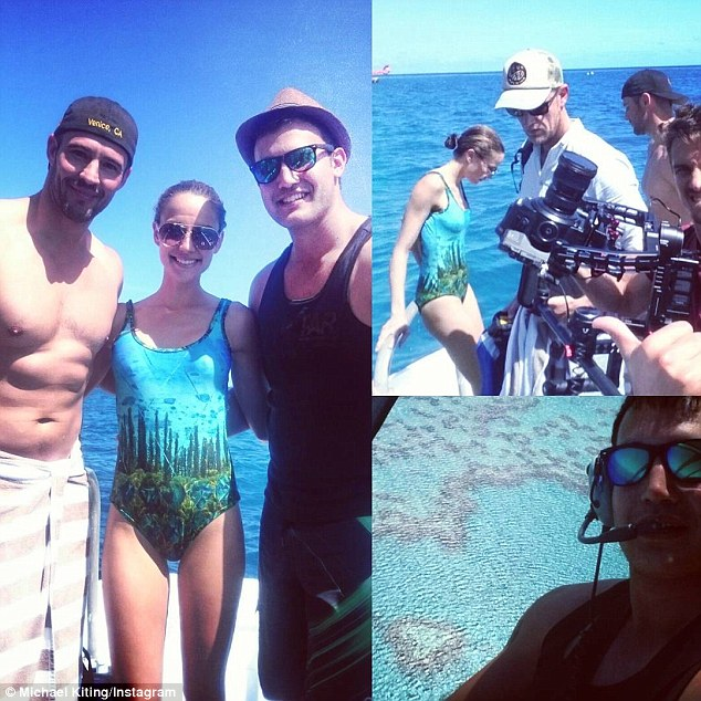 'All work and no play': As well as visiting the island as Myer ambassadors, the pair appeared to be filming a segment for Channel Seven program Queensland Weekender, and were having a blast doing so