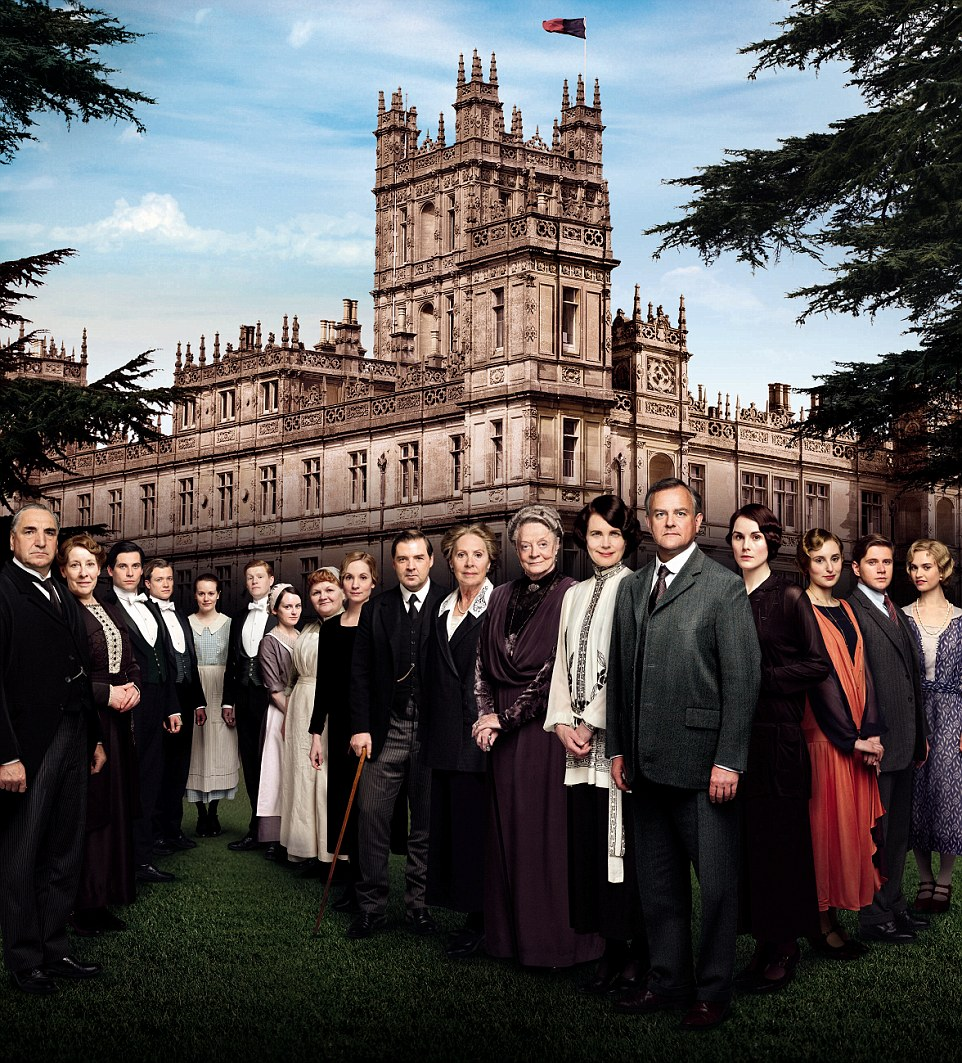 The show could rival ITV favourite Downton Abbey (cast pictured above), which will come to a conclusion on Christmas Day