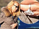 20 JAN 2016 - RICHMOND - UK *** EXCLUSIVE PICTURES *** ***STRICTLY NOT AVAILABLE FOR AUSTRALIA*** ** STRICTLY NOT AVAILABLE FOR MAIL ONLINE AND ANY ONLINE SUBSCRIPTION DEALS UNLESS FEE AGREED PRIOR TO USAGE*** JERRY HALL SPOTTED OUTSIDE HER RICHMOND HOME AS SHE CHECKS ON A DELIVERY OF NEW GARDEN FURNITURE. AS SHE IS OUT TALKING TO THE DRIVER ON THE STREET OPPOSITE HER HOME RUPERT MURDOCH IS SEEN DRIVING AWAY IN A RANGE ROVER.  CROSSING THE ROAD BACK TO HER HOUSE WE SEE JERRYS HUGE ENGAGEMENT ROCK ON HER FINGER BYLINE MUST READ : XPOSUREPHOTOS.COM ***UK CLIENTS - PICTURES CONTAINING CHILDREN PLEASE PIXELATE FACE PRIOR TO PUBLICATION *** **UK CLIENTS MUST CALL PRIOR TO TV OR ONLINE USAGE PLEASE TELEPHONE 44 208 344 2007**