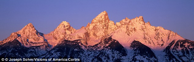 The National Park Service says the accident occurred around 11 am on Saturday on the 12,300-foot Teewinot Mountain, the sixth-tallest peak in the Teton Range (pictured)