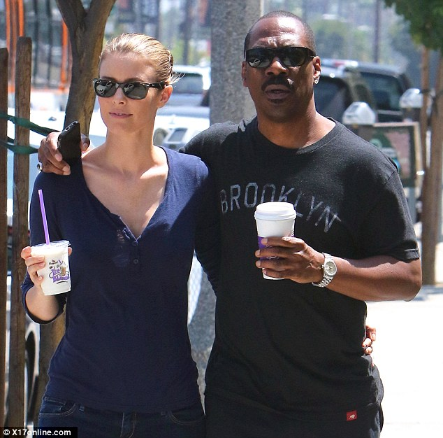 Rush: The Perth-born star cooled down with an icy drink, while her Beverly Hills Copy beau chose a coffee