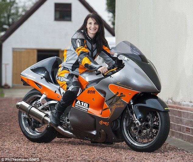 Becci Ellis was trying to beat her own speed record and had reached 254mph when her 1300cc superbike was hit by a gust of wind and veered off the track
