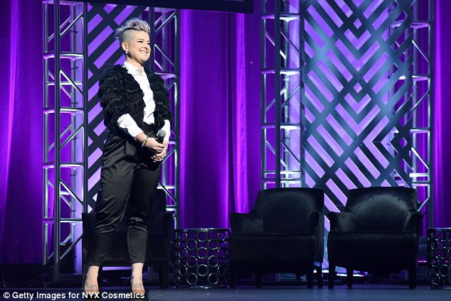 At the helm: Hosting the awards, Kelly Osbourne headed up onstage to take control of proceedings