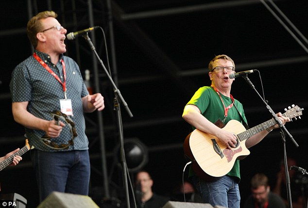 Did they walk 500 miles to get there? Legendary crooners The Proclaimers enticed the soggy crowd with their brilliant hits at Hylands Park