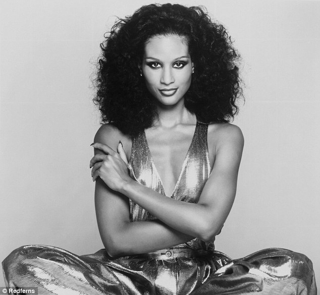 During her modeling career, she said she experienced jealously from fellow models, particularly the few black ones at the time, who were all competing for exposure (Johnson pictured in a portrait in 1977)