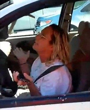 'Oh my gosh, I am so sorry,' driver Harris tells Haynes in the footage he recorded of their interaction