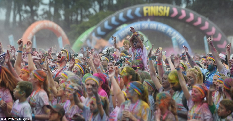Today over 300 Colour Run events are hosted in over 50 different countries