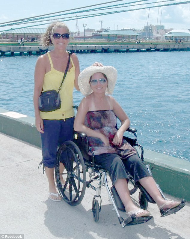 Haynes' sister Lindsey, pictured with her mother, was hit by a driver on heroin.Haynes hopes his story will show people the impact drugs have not just on an individual's life but all those who cross paths