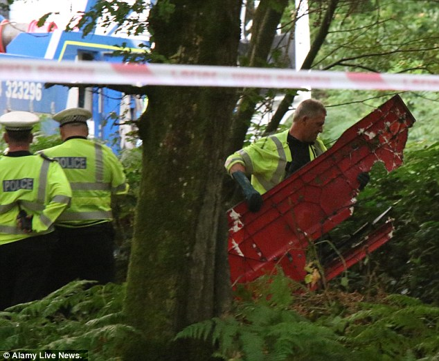The fire engine ploughed off the road and ended up in the undergrowth among trees close to a campsite