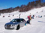 """Pic shows: The car parked on slopes. A rogue Bimmer parked on the slopes of a chic ski run upset winter sports enthusiasts whose runs were blocked by the rogue motor. The driver parked the car on the runs at the Platak resort, located north of the city of Rijeka in Croatia. While everyone else parked their vehicles in the correct parking spot, the renegade driver stuck his BMW right in the path of downhill holidaymakers. """"Get this guy to move his car!"""", was a cry which echoed through the mountains as frustrated skiers found their way blocked. A picture of the poorly parked BMW car was uploaded online and it quickly spread through multiple social media networks, where many voiced their frustration at the driver. One user called tonka_krumpir said: """"This sounds like something that would happen in Croatia."""" While another, whose username is kootscheepers, quipped: """"Why is Clarkson in Croatia again?"""" It also seems that some had more to say about the value of the vehicle than the character"""