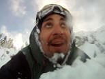Skier captures the terrifying moment he gets caught up in an avalanche at Sugar Bowl and lives to tell the tale