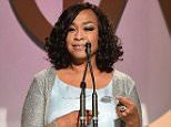 CENTURY CITY, CA - JANUARY 23:  Honoree Shonda Rhimes accepts the Norman Lear Achievement Award onstage at the 27th Annual Producers Guild Of America Awards at the Hyatt Regency Century Plaza on January 23, 2016 in Century City, California.  (Photo by Kevin Winter/Getty Images)