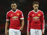 MANCHESTER, ENGLAND - JANUARY 23:  Anthony Martial and Adnan Januzaj of Manchester United walks off after the Barclays Premier League match between Manchester United and Jose Fonte at Old Trafford on January 23, 2016 in Manchester, England.  (Photo by Tom Purslow/Man Utd via Getty Images)