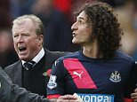 """Newcastle's Fabricio Coloccini reacts after being sent of as manager Steve McClaren appeals to fourth official Mike Dean.  Football - Sunderland v Newcastle United - Barclays Premier League - Stadium of Light - 25/10/15.   Action Images via Reuters / Lee Smith  Livepic  EDITORIAL USE ONLY. No use with unauthorized audio, video, data, fixture lists, club/league logos or """"live"""" services. Online in-match use limited to 45 images, no video emulation. No use in betting, games or single club/league/player publications.  Please contact your account representative for further details."""