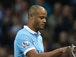 Vincent Kompany of Manchester City comes on as a second half substitute for Yaya Toure of Manchester City during the Barclays Premier League match between Manchester City and Sunderland at the Etihad Stadium on December 26, 2015 in Manchester, England.  (Photo by Jan Kruger/Getty Images)