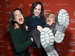 """PARK CITY, UT - JANUARY 23:  (L-R) Allison Janney, Elle Page and Sian Heder attend """"Tallulah"""" Premiere during the 2016 Sundance Film Festival at Eccles Center Theatre on January 23, 2016 in Park City, Utah.  (Photo by George Pimentel/Getty Images for Sundance Film Festival)"""
