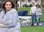 Samantha Faiers and Paul Knightley out with their new baby from Hyde Park yesterday (Sun 24 Jan 2016)