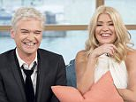 EDITORIAL USE ONLY. NO MERCHANDISING  Mandatory Credit: Photo by Ken McKay/ITV/REX/Shutterstock (5550885as)  Phillip Schofield and Holly Willoughby  'This Morning' TV show, London, Britain - 21 Jan 2016