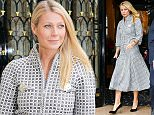 Picture Shows: Gwyneth Paltrow  January 26, 2016    American actress Gwyneth Paltrow is seen leaving the George V Hotel in Paris, France during Paris Fashion Week.    The starlet was wearing a tea-length checked dress with a popped collar, along with black Chanel pumps and a matching black clutch.    Non Exclusive  UK RIGHTS ONLY    Pictures by : FameFlynet UK © 2016  Tel : +44 (0)20 3551 5049  Email : info@fameflynet.uk.com
