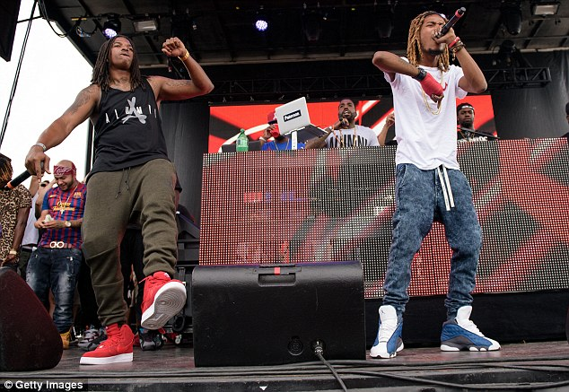 After two girls were injured when the crowd surged forward, Wap got back onstage and apologized