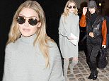 25.JANUARY.2016 - PARIS - FRANCE American Models and sisters Gigi Hadid and Bella Hadid arrives at Chanel office in Paris, France *** AVAILABLE FOR UK SALE ONLY *** BYLINE MUST READ : E-PRESS / XPOSUREPHOTOS.COM ***UK CLIENTS - PICTURES CONTAINING CHILDREN PLEASE PIXELATE FACE PRIOR TO PUBLICATION *** **UK CLIENTS MUST CALL PRIOR TO TV OR ONLINE USAGE PLEASE TELEPHONE 0208 344 2007**
