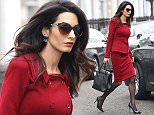Mandatory Credit: Photo by Beretta/Sims/REX/Shutterstock (5567430f) Amal Clooney Amal Clooney out and about, London, Britain - 25 Jan 2016