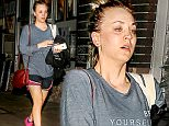 EXCLUSIVE TO INF.\nJanuary 25, 2016: Make-up Free Kaley Cuoco leaving gym after a sweaty workout in Los Angeles, California.\nMandatory Credit: Fresh/INFphoto.com\nRef: infusla-284