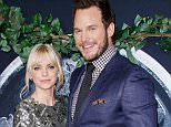 Mandatory Credit: Photo by Jim Smeal/BEI/BEI/Shutterstock (4836363af).. Anna Faris and Chris Pratt.. 'Jurassic World' film premiere, Los Angeles, America - 09 Jun 2015.. ..