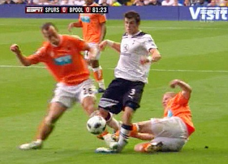 Hack: Adam previously fouled Bale badly while at Blackpool