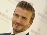 MADRID, MADRID - OCTOBER 07:  David Beckham presents the Haig Club pop-up store on October 7, 2015 in Madrid, Spain.  (Photo by Europa Press/Europa Press via Getty Images)