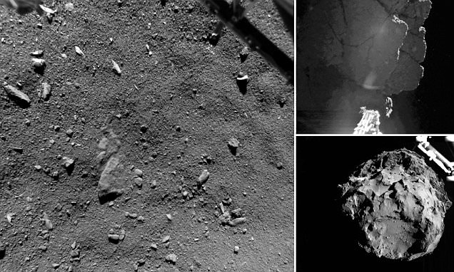 What comet 67P looks like from 30ft away