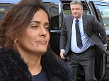 EXCLUSIVE TO INF.\nJanuary 28, 2016: Salma Hayek and Alec Baldwin filming scenes for their new comedy 'Drunk Parents' in White Plains, New York. Salma arrives on the set barefaced, with visible red acne spots.\nPictured here: Salma Hayek\nMandatory Credit: Elder Ordonez/INFphoto.com\nRef: infusny-160
