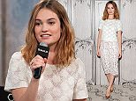 "NEW YORK, NY - JANUARY 27:  Actress Lily James attends AOL Build Presents ""Pride and Prejudice and Zombies"" at AOL Studios In New York on January 27, 2016 in New York City.  (Photo by D Dipasupil/FilmMagic)"