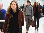 29.JANUARY.2016 - LONDON - UK\nActor Eddie Redmayne with his wife Hannah Bagshawe fly out of Heathrow Airport heading towards Los Angeles.\nBYLINE MUST READ : XPOSUREPHOTOS.COM\n***UK CLIENTS - PICTURES CONTAINING CHILDREN PLEASE PIXELATE FACE PRIOR TO PUBLICATION***\nUK CLIENTS MUST CALL PRIOR TO TV OR ONLINE USAGE PLEASE TELEPHONE 0208 344 2007