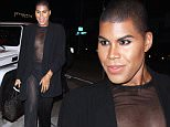 West Hollywood, CA - EJ Johnson rocks a sheer top for dinner with a gal pal at Craig's in West Hollywood.\nAKM-GSI        January  27, 2016\n \nTo License These Photos, Please Contact :\nSteve Ginsburg\n(310) 505-8447\n(323) 423-9397\nsteve@akmgsi.com\nsales@akmgsi.com\nor\nMaria Buda\n(917) 242-1505\nmbuda@akmgsi.com\nginsburgspalyinc@gmail.com