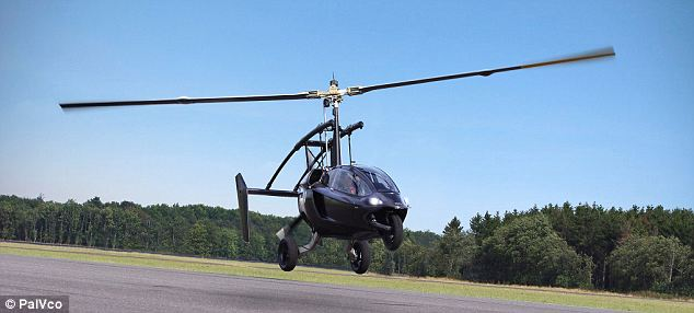 The Pal-V One, pictrured, needs a 540ft runway in order to take-off.